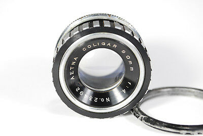 Aetna Coligar 90mm F4.5 Enlarging Lens with Jam Nut 39mm