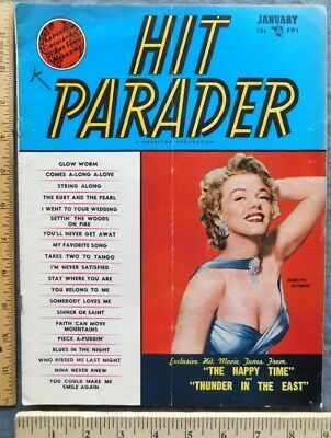 Rare 1953 Hit Parader Magazine Marilyn Monroe Cover