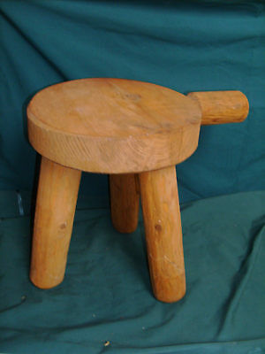 Primitive Country  Farm Three Legged  Milking  Stool Walpole Wood Workers