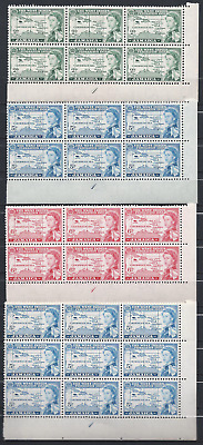 JAMAICA: 1958: British Caribbean Federation: big blocks 8 scans.