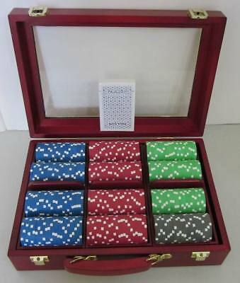 New ~ Clay Paulson Pro Series Poker Chip Set ~ Rare Heads or Tails ~ 297 Chips !