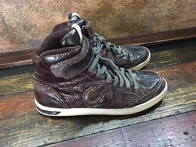 d81101055 21115 Mens True Religion Brown Leather High Top Sneakers ~ Shoe size 13 M