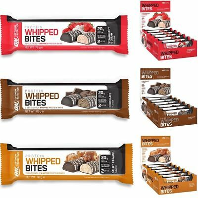 ON Optimum Nutrition Whipped Bites Protein Bars Low Carb & Sugar 12x76g