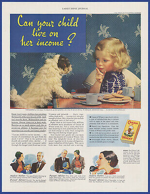 Vintage 1936 CREAM OF WHEAT Breakfast Cereal Food Kitchen Decor Print Ad 1930's