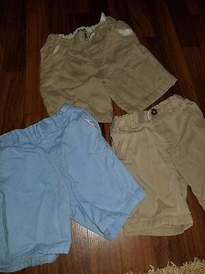 Lot of 3 3t boys children's place shorts khaki light blue
