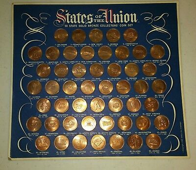 States of the Union ~ 1969 bronze collector coins by Shell Oil Co