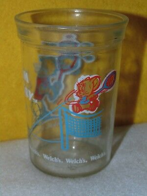 1991 Tom & Jerry Welch's Jelly Jar Collector Glass: Tennis Theme