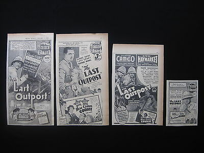 THE LAST OUTPOST 1936 Original cinema movie advertising Claude Rains Cary Grant