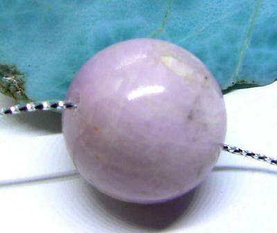 RARE HUGE NATURAL CHATOYANT PINK AFGHAN KUNZITE ROUND BEAD 20mm 66.75cts