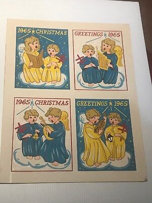#4  -  1965 Christmas Seal American Lung Association Painting Illustration Art