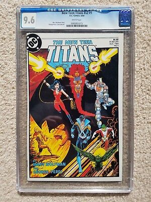 NEW TEEN TITANS  #1 CGC 9.6 WHITE PAGES  - Nightwing - Cyborg
