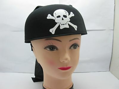 5 Pirate Hat Skull Caps Fancy Dress Costume For Kid
