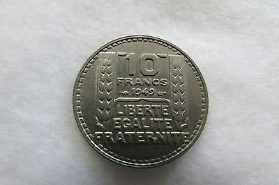 1949 French Ten (10) Franc Coin - Circulated in Good Condition Lot CC7