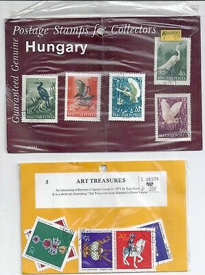 Hungary 1959 Water Birds Used x 5 & 5 x Art Treasures From East Germany Used