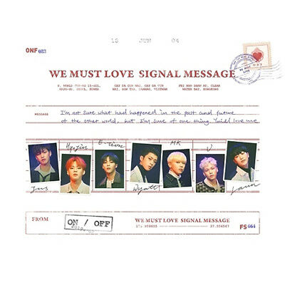 ONF [WE MUST LOVE] 3rd Mini Album CD+Photo Book+Card+Post Card+2p Photo SEALED