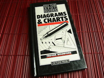 Diagrams + Charts On The Spot Guide Trevor Bounfour Graphic Design Book 1991