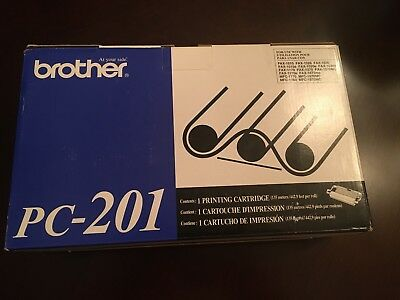 Brother PC-201 toner printing cartridge for fax machine box contains 1-cartridge