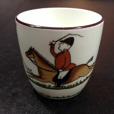 Crown Staffordshire Hunting Scene Cup Sake Shot Glass Bone China England