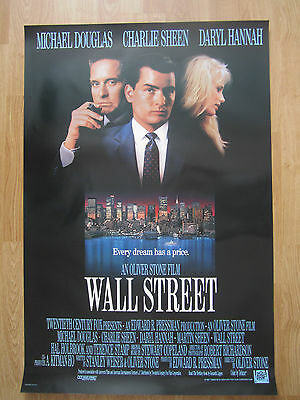 Movie Poster:  WALL STREET (1987)   Original American One Sheet    Charle Sheen