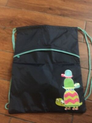 Thirty One — New Navy Topsy Turtle  Drawstring Backpack Bag.