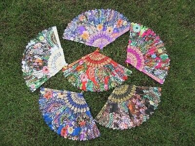 12X New Chinese Folding Fans Hand Fans Mixed