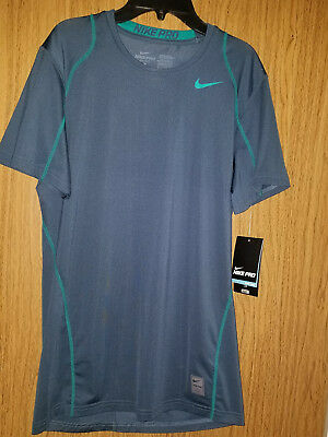 cc047d98d307 MEN S NIKE PRO Fitted Size Small Training Shirt Gray   Black 859216 ...