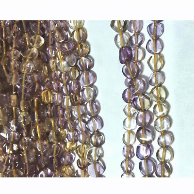 Ametrine Coin Beads Ametrine Tyre Rondelles 5mm Beads 14 Inches Strand