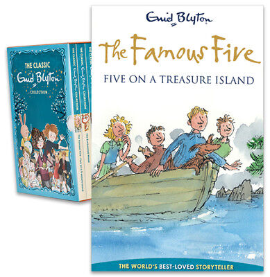 The Famous Five on a Treasure Island Paperback Book - Enid Blyton Collection