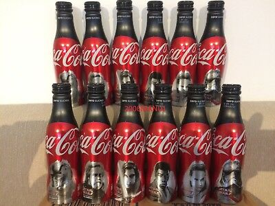 Coca Cola Star Wars  Aluminium Bottles Bouteilles 2 Complete Sets And 1 Cup