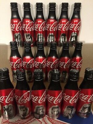 Coca Cola Alu Star Wars Aluminium Bottles Bouteilles 3 Complete Sets And 1 Cup
