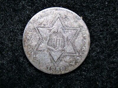 Tough Date 1858 3 Cent (Silver)