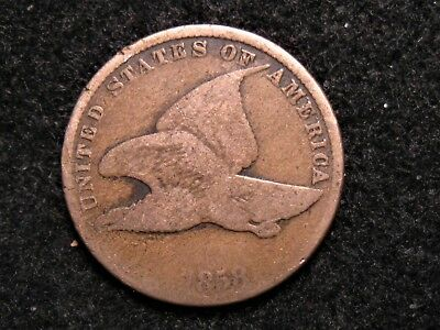 Very Nice 1858 Flying Eagle Cent