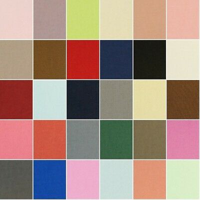 100% Cotton Canvas Fabric Medium Weight 230gsm 112cm Wide Material