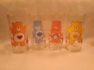 1984 Pizza Hut limited edition collector series Care Bear tumblers set of 4