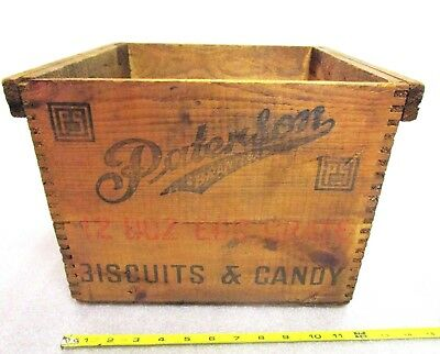 Vintage Paterson Brantford Biscuits and Candy 12 Doz Wood Egg Crate