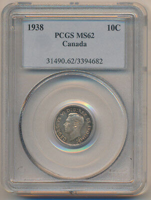 Canada 10 Cents 1938 - PCGS MS62