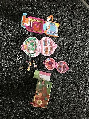 Vintage Original Polly Pocket Sets 1989, 1992, 1994, 2000 Polly and Disney Pongo
