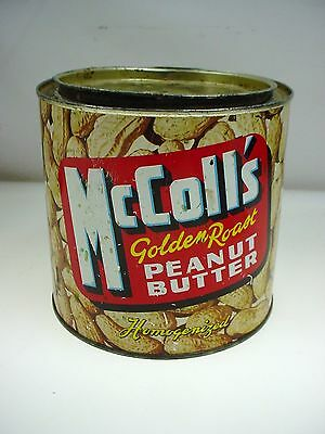 VINTAGE McCOLLS GOLDEN ROAST PEANUT BUTTER TIN VANCOUVER BC CANADA