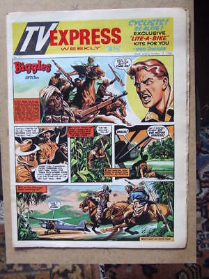 TV Express No 311 (1960). Incl Biggles full colour comic strip serial.
