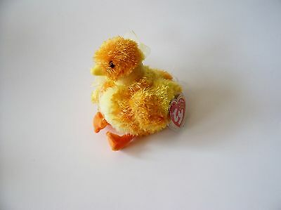 Chickie Ty Beanie Baby, New, MWMT, 2001, Yellow Chick, 5+, Boys and Girls