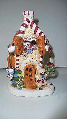 Avon 3D Gingerbread Candle House New Unused Condition In Original Storage Box