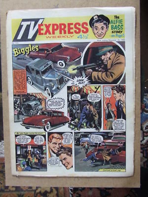 TV Express No 319 (1960). Incl Biggles full colour comic strip serial.
