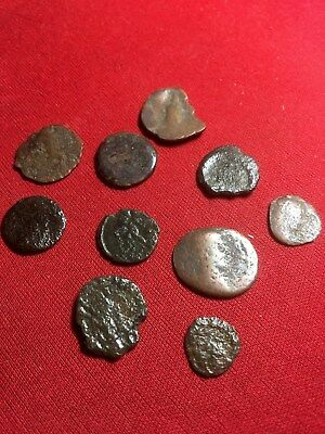 10 Authentic Ancient  240-410 AD ROMAN EMPIRE Bronze Coins Genuine Antique #B