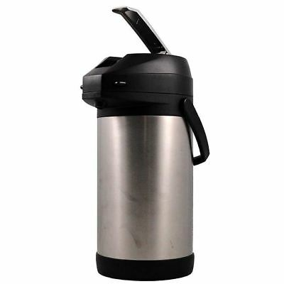 American Glass Stainless Steel Lined Lever-Action 3.0 Liter Airpot APSS30 Pot