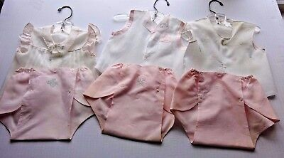 Vintage Baby CLothing Lot- 3 Outfits redress dolls ?
