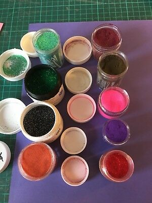 9 Embossing Powders in Variety Of Colours.
