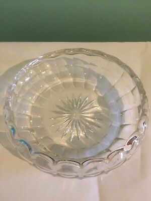 Vintage Crystal Cut Glass Bowl/Dish/Sweet/Candy Dish Beautiful Retro Style