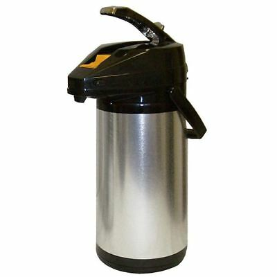 American Glass 1.9 Liter Glass Lined Stainless Steel Body Airpot APGS19 Dispense