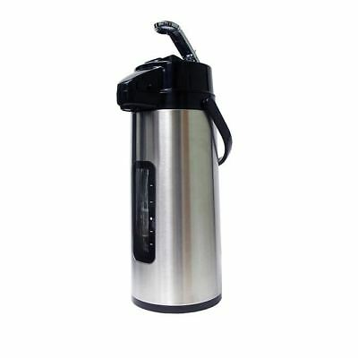 American Glass 2.2 Liter Glass Lined Stainless Steel Body Airpot w/Sight Glass