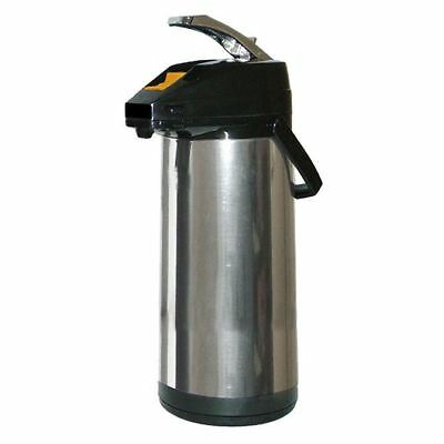 American Glass 2.2 Liter Glass Lined Stainless Steel Body Airpot APGS22 Dispense